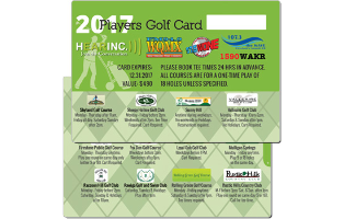 2017 HEARINC))) Players Golf Card