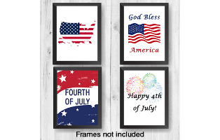 4th of July Wall Prints  - 8