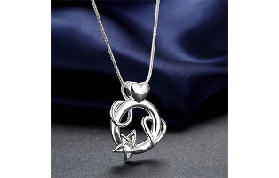 Love You to the Moon Necklace in Sterling Silver - $9.99 with FREE Shipping!